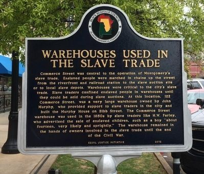 Warehouses Used in the Slave Trade Marker image. Click for full size.