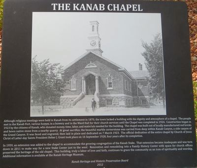 The Kanab Chapel Marker image. Click for full size.