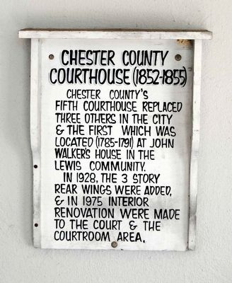 Chester County Courthouse (1825-1855) Marker image. Click for full size.