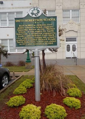 Smith Robertson School Marker image. Click for full size.