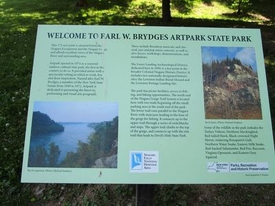 Welcome to Earl W. Brydges Artpark State Park Marker image. Click for full size.
