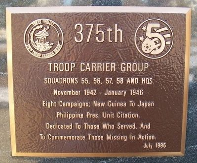 375th Troop Carrier Group Marker image. Click for full size.