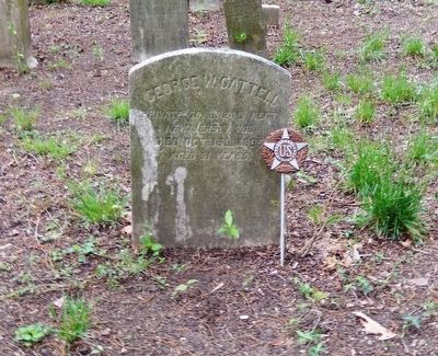 George W. Cattell Grave Marker image. Click for full size.