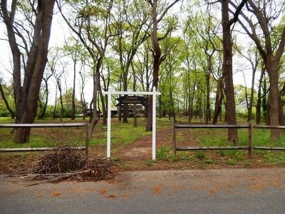 Cattell Cemetery-sign at the entrance on Evelyn Avenue image. Click for full size.