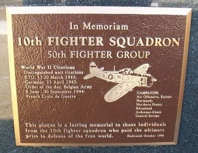 10th Fighter Squadron Marker image. Click for full size.