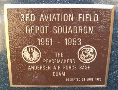 3rd Aviation Field Depot Squadron Marker image. Click for full size.