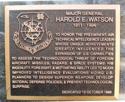 Major General Harold E. Watson Marker image. Click for full size.
