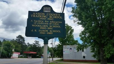 Anson County Training School Marker image. Click for full size.