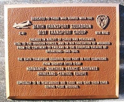 314th Transport Squadron Marker image. Click for full size.