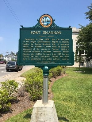 Fort Shannon Marker image. Click for full size.