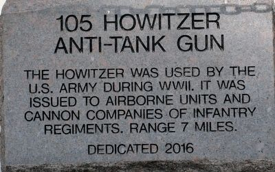 105 Howitzer Anti-tank Gun Marker image. Click for full size.