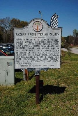 Waxhaw Presbyterian Church Marker image. Click for full size.