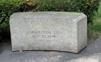 Cornerstone Laid Oct. 20, 1946 image. Click for full size.