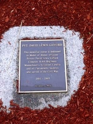 Pvt. David Lewis Gifford Memorial Marker image. Click for full size.