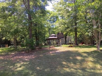Wide view of marker and gazebo. image. Click for full size.