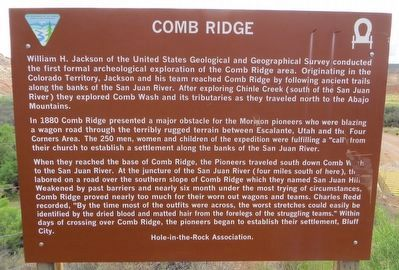 Comb Ridge Marker image. Click for full size.