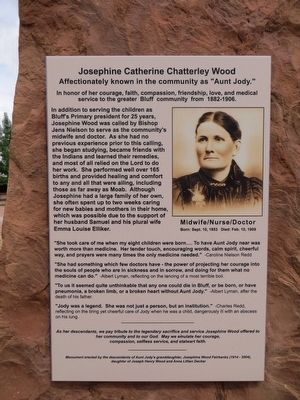 Josephine Catherine Chatterley Wood Marker image. Click for full size.