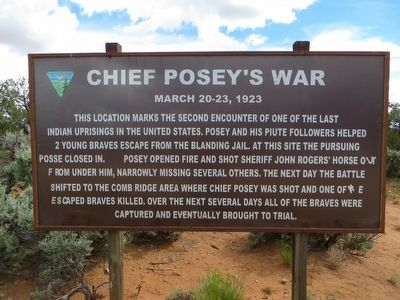 Chief Posey's War Marker image. Click for full size.