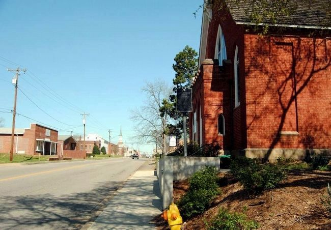 Lancasterville Presbyterian Church Marker<br>Looking Northeast Along West Gay Street image. Click for full size.