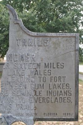 Old Indian Trails Marker image. Click for full size.