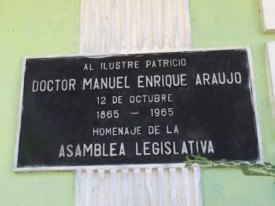 Doctor Manuel Enrique Araujo Marker image. Click for full size.