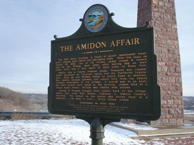 The Amidon Affair Marker image. Click for full size.