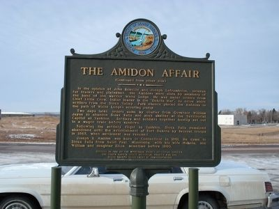 The Amidon Affair Marker, side 2 image. Click for full size.