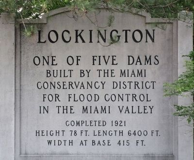 Lockington Dam Marker image. Click for full size.