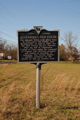 Alexander's Old Fields Marker image. Click for full size.