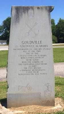 Goldville Marker image. Click for full size.