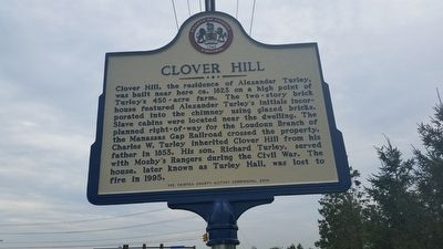 Clover Hill Marker image. Click for full size.