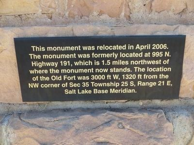 <i>Plaque below: </i><br> Elk Mountain Mission Marker image. Click for full size.