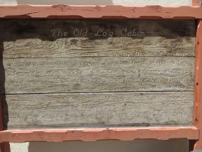 The Old Log Cabin Marker image. Click for full size.