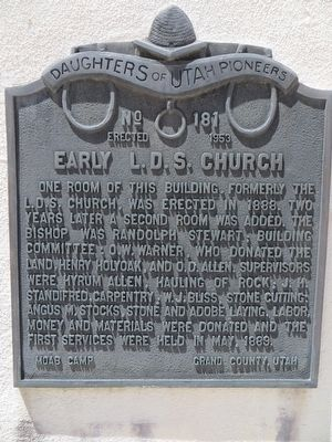 Early L.D.S. Church Marker image. Click for full size.