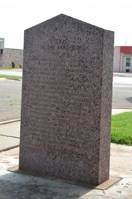 County Named for Confederate Hero / Texas in the Civil War Marker image. Click for full size.