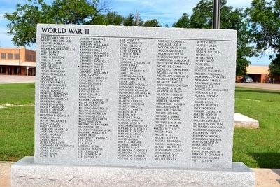 Stonewall County Veterans Memorial image. Click for full size.