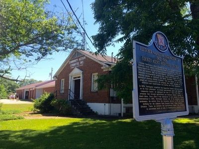 Marker in front of Chambers-Tallapoosa-Coosa Community Action Committee office. image. Click for full size.
