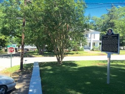 View of marker near corner of South Broadnax and Eufalla Streets. image. Click for full size.