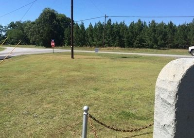 View of marker at crossroads of Tallapoosa Street & Cemetery Road. image. Click for full size.