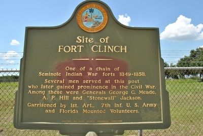 Site of Fort Clinch Marker image. Click for full size.