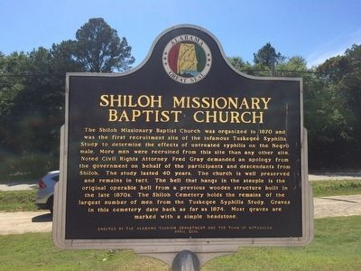 Shiloh Missionary Baptist Church Marker (Side 2) image. Click for full size.