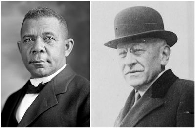 Booker T. Washington / Julius Rosenwald image. Click for full size.