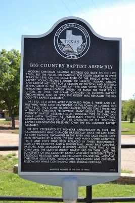 Big Country Baptist Assembly Marker image. Click for full size.