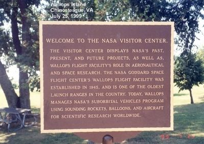 NASA-Wallops Flight Facility Visitor Center Marker image. Click for full size.