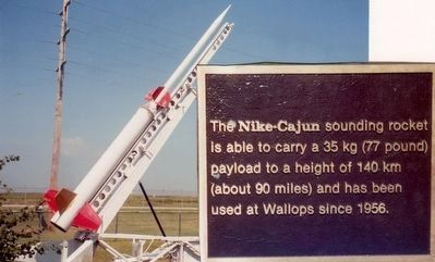 Nike-Cajun Rocket at NASA Wallops Flight Facility image. Click for full size.