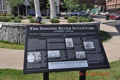 The Singing River Sculpture Marker image. Click for full size.