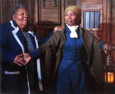 Harriet Tubman in Madame Tussauds image. Click for full size.