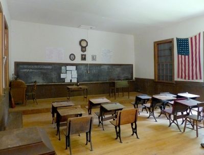 Inside Kingsley Schoolhouse image. Click for full size.