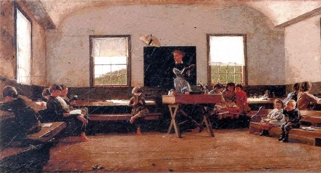 Country School 1871 by Winslow Homer image. Click for full size.