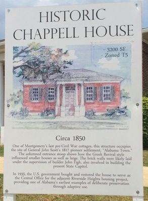 Historic Chappell House Marker image. Click for full size.